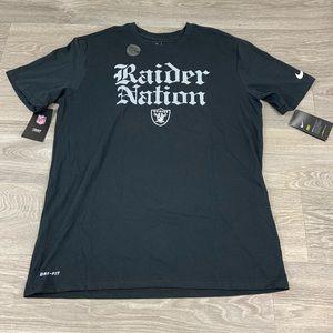 Nike raiders nfl football dri fit shirt Large